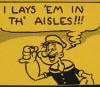 """Fleischer Promo Art #15: """"Popeye Lays 'Em!"""""""