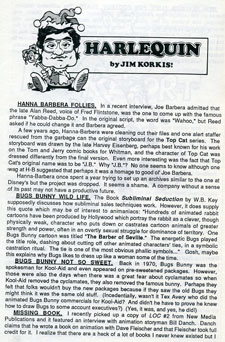 One of Jim's column's for ANIMATO in 1987 (click to enlarge)