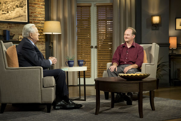 Robert Osborne hosts Turner Classic Movies with guest Steve Stanchfield at HBO Studios in New York.