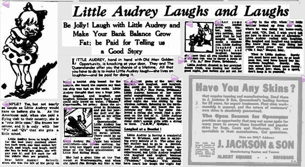 little-audrey-newspaper