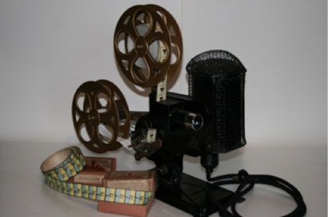 "A REFCY projector and ""paper film""."