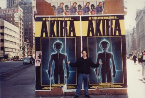 Jerry promotes AKIRA in Manhattan, 1990