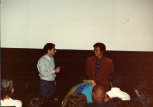 Jerry does a quick Q&A with Otomo to introduce the film at the first screening at the Film Forum in New York