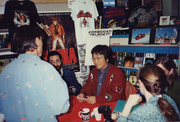 Otomo signs copies of AKIRA at Forbidden Planet in NYC