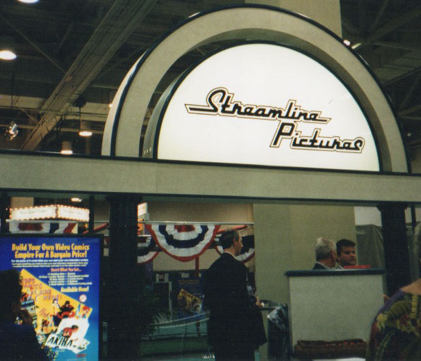 In 1993 Streamline Pictures had a booth at the Video Software Dealer's Association (VSDA) convention in Las Vegas to promote it's Video Comics.