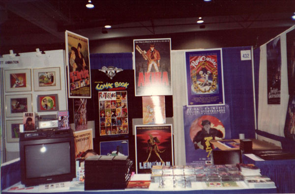 Streamline's Comic Con booth in 1991