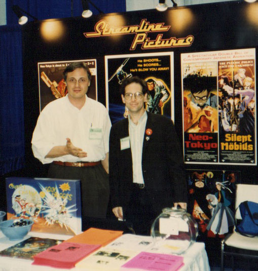 Carl Mack (left), Jerry Beck (right) at the San Diego Comic Con in 1991