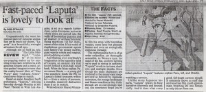 Full review of LAPUTA: CASTLE IN THE SKY from L.A. Daily News 2/2/90 (click To Enlarge)