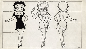 "Betty Boop and Pudgy in ""My Friend The Monkey"""