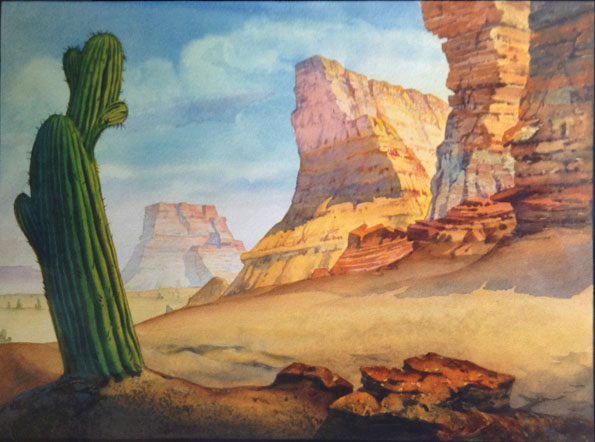 """Background by Kiechle for """"Synchopated Sioux"""" (1940)"""