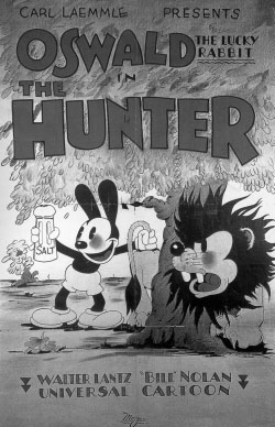 Oswald_the_Hunter-bw