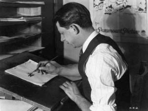 Manny Gould at the Krazy Kat studio, circa 1928.