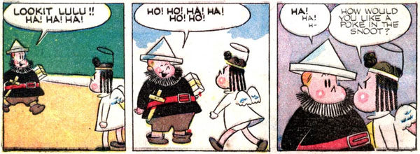 Lulu panels written AND drawn by Stanley - from Four Color Comics #74 (1945)