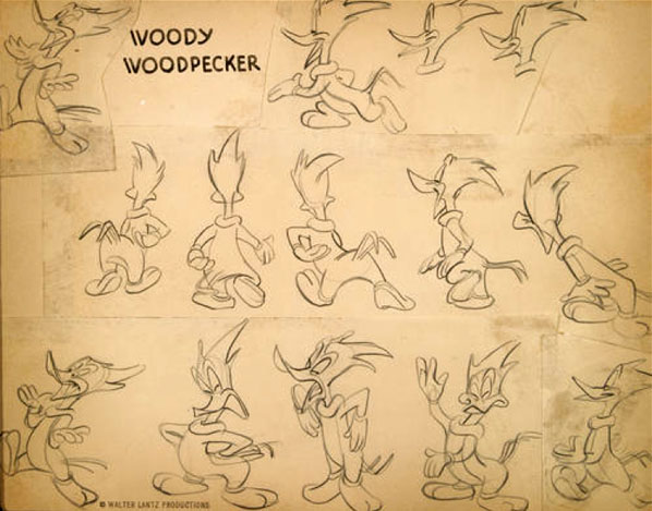 Emery Hawkins model sheet for Woody