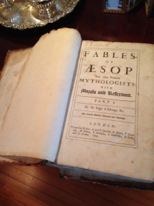 "Foster's personal copy of ""Aesop's Fables"""