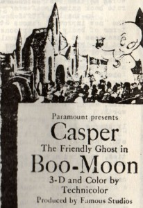 "Special press materials were prepared for both ""Boo Moon"" and ""Popeye The Ace Of Space"". Here was a newspaper ad for ""Boo-Moon"""