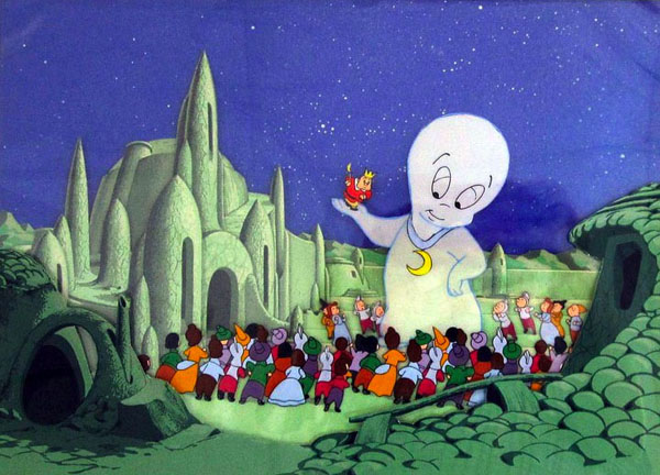 "Original cel and background from ""Boo Moon"""
