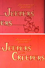 The rarely seen original titles for the Jeepers and Creeper series