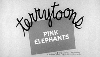 """Terrytoons' """"Pink Elephants"""" (1937)"""