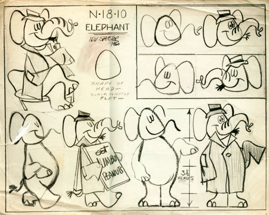 "Irv Spector model sheet for ""Mike The Masquerader"" (1960)"