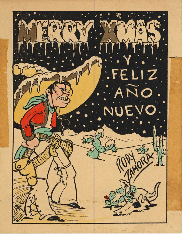 Fleischer-era Christmas Card by Rudy Zamora - via Virginia Mahoney and the Seymour Kneitel blog