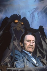 The Great Owl with his voice actor John Carradine. Click to Enlarge