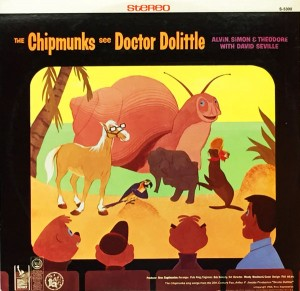 """The back cover of the album (click to enlarge) looks like """"Mystery Science Chipmunks 3000""""!"""