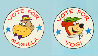 Yogi Bear vs. Magilla Gorilla – For President!