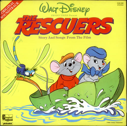 """The Rescuers"" UK vinyl LP album"