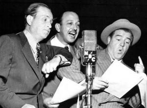 Bud Abbott, Mel Blanc and Lou Costello