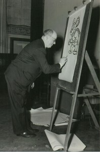 Jim Tyer demonstrates the proper way to draw Mighty Mouse