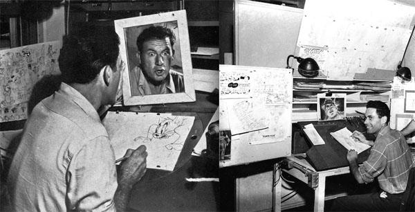 Irv Spence (left) at MGM; Rod Scribner (right) at Warner Bros.