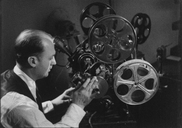 Walter Lantz at the Movieola