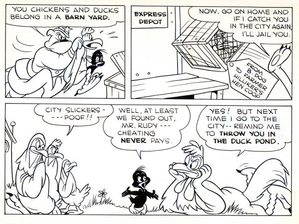"""The Mad Puppet""—Terry-Toons Comics #80 (June 1950). Story inked by Frank ""Sparky"" Schudde."