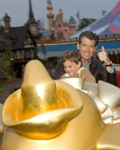 One of the Bond's - Pierce Brosnan at Disneyland