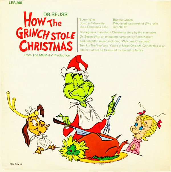 How The Grinch Stole Christmas 1966 Movie Poster.Chuck Jones How The Grinch Stole Christmas On Records