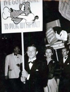 Art Babbitt leads the picketers in 1941.