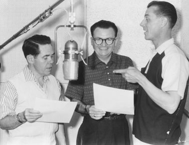Daws Butler (left), Don Messick (center) and Doug Young (right, voice of Doggie Daddy)
